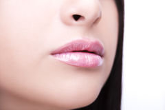 Sexy Lips. Beauty Lipgloss Makeup Detail. Royalty Free Stock Image