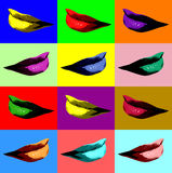 Sexy lips pop art Royalty Free Stock Photography