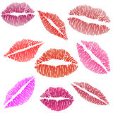 Sexy lipstick kiss Stock Photos