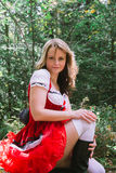 Sexy little red riding hood Stock Photos
