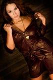 long brown hair fashion woman Royalty Free Stock Photos