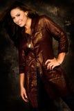 long brown hair fashion woman Stock Image