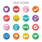 Sexy long shadow icons Stock Photos