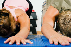 lower back  Gymnastics Stock Photography