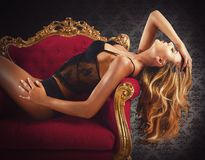 Sexy luxury woman Royalty Free Stock Photography