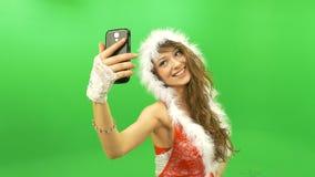 Sexy Mädchen, das selfie macht stock footage