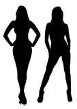 Sexy Mädchen, Frauenfiguren Stockfotografie