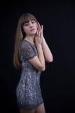 Sexy Mädchen im Spitzekleid Stockfotografie