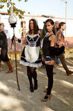 Sexy maids cosplayers at Lucca Comics and Games 2014 Stock Photography