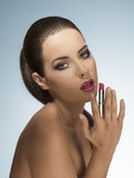 Sexy make-up girl in beauty shoot Stock Photography