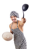 Sexy male cook isolated Royalty Free Stock Photo