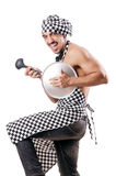 male cook isolated Royalty Free Stock Images