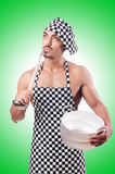 Sexy male cook Stock Photos