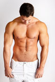 Sexy male fitness model Royalty Free Stock Images