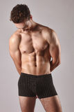 Male Model Posing Without Shirt Stock Photography