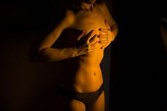 Sexy male nude woman Stock Image