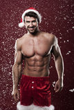 Sexy male santa Royalty Free Stock Images