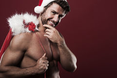 Sexy male santa Royalty Free Stock Image