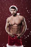 Sexy male santa Stock Image