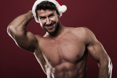Sexy male santa Royalty Free Stock Photography