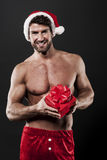 Sexy male santa Stock Photography