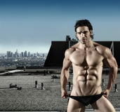 Sexy male underwear model Stock Photos