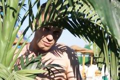Man. Young man enjoying nature stock images