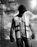 man as construction worker Royalty Free Stock Photography