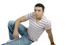 Sexy man in jeans Royalty Free Stock Photos