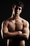 Sexy man with naked torso Royalty Free Stock Image
