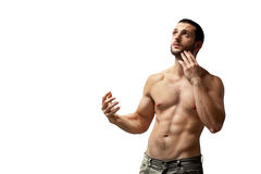 Naked Young Man Waving Hello Stock Image Image Of