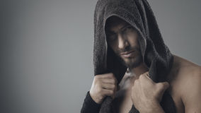 Sexy man posing Royalty Free Stock Images