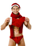 Sexy man Santa Claus Royalty Free Stock Photography
