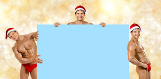 Sexy man Santa Claus Royalty Free Stock Images