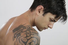 Sexy Man with tattoo Royalty Free Stock Photos