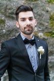 man in tuxedo posing Stock Photos