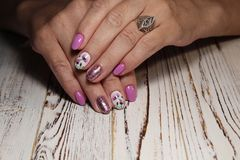 sexy manicure of nails Royalty Free Stock Photography