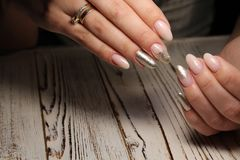 sexy manicure of nails Royalty Free Stock Images