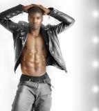 Sexy mannelijk model Stock Foto