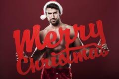Sexy mannelijke santa stock foto's