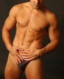Sexy mannetje in ondergoed 2 stock afbeeldingen
