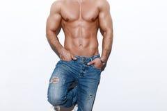 Sexy Mannkörper lizenzfreies stockfoto