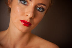 Sexy maquillage stock foto's