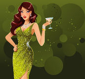 Sexy martini girl Stock Photography