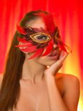 Sexy in mask Royalty Free Stock Photo