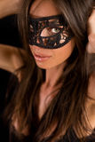 Sexy masked woman in lingerie Royalty Free Stock Images