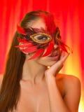 Sexy in masker royalty-vrije stock foto