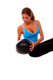 Sexy Medicine Ball Workout Royalty Free Stock Photography