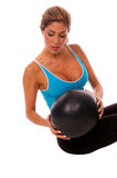 Sexy Medicine Ball Workout Royalty Free Stock Photos