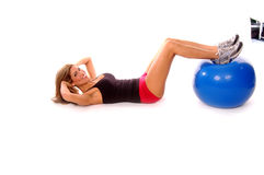Sexy Medicine Ball Workout Stock Photos